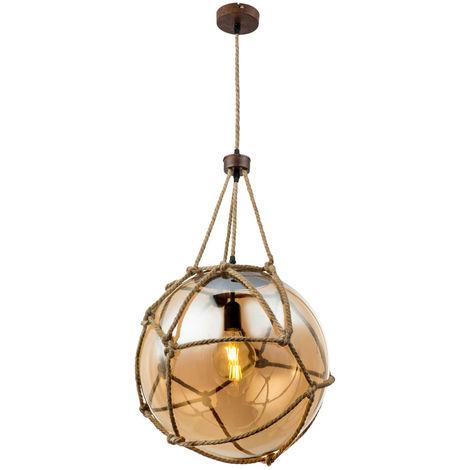 Lampe suspendue au plafond en boule de verre Lampe à pendule FILAMENT dimmable dans l'ensemble, y compris les ampoules à LED