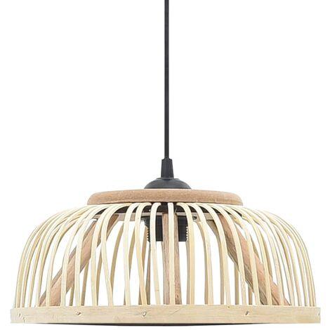 Lampe suspendue Bambou 40 W 30x12 cm Demi-cercle E27
