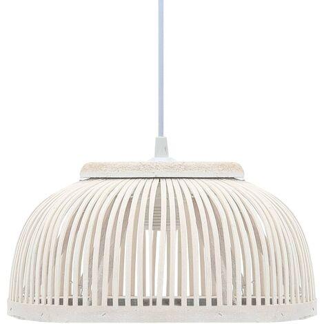Lampe suspendue Bambou 40 W 34x14,5 cm Demi-cercle E27