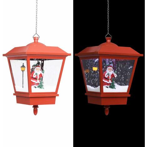 Lampe suspendue de Noel lumiere LED Pere Noel Rouge 27x27x45 cm