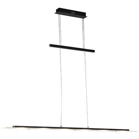 Lampe suspendue Design noire réglable 120cm avec LED - Platinum Qazqa Design, Moderne Luminaire interieur