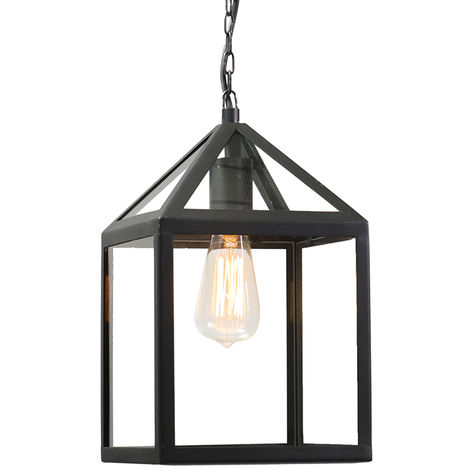 Lampe suspendue d\'extérieur industrielle noire - Amsterdam ...