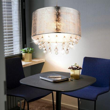 lampe suspendue en textile en argent pour vos quatre murs AMY