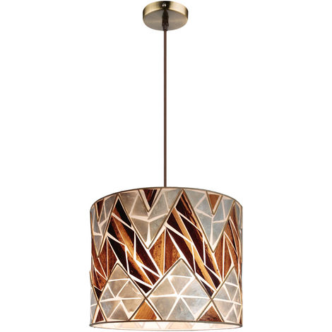 Lampe suspendue mosaïque coquillage pour le salon BALI