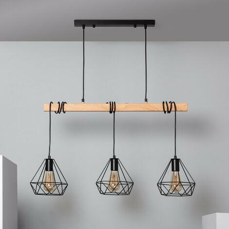 Lampe Suspendue Sardo 3 Spots Noir - Noir