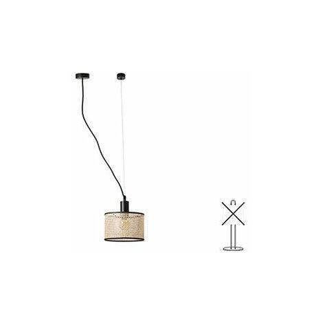 Lampe suspension avec tendeur Mambo - Noir - Sans ampoule - E27