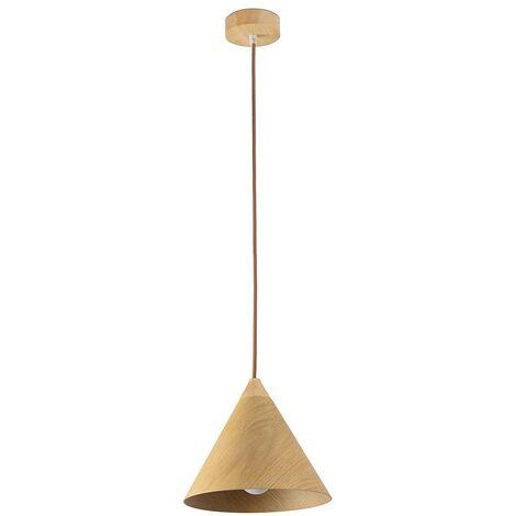 Lampe suspension bois modèle AUSTEN.