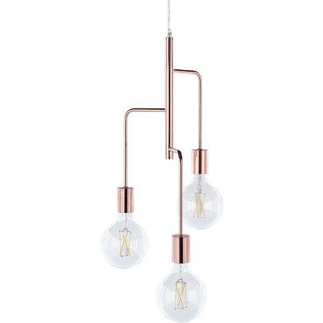 Lampe suspension cuivré BOGNA