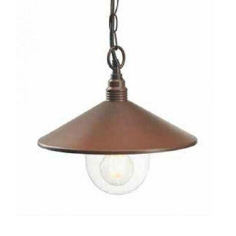 Lampe suspension de la se'rie exterieure corten 60w attacco e27 159/36