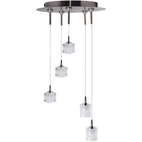 Suspension FlammesHauteur Design Cube5 Lampe 130cmJulie xBordCe