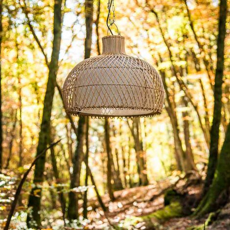 Lampe suspension en osier 44 cm