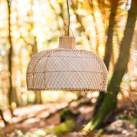 Lampe suspension en osier 59 cm