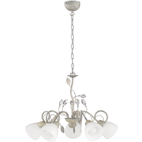 Lampe suspension en plafond antique radiateur en verre gris tendrils salon lampe suspension TRIO 110700561