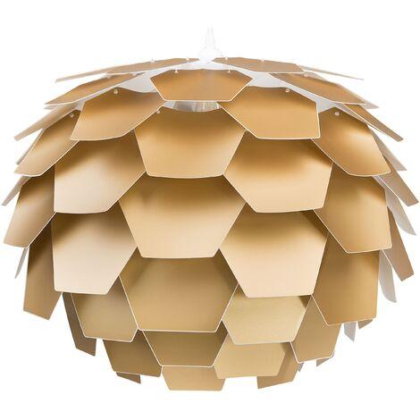 Lampe suspension extravagante dorée 60 cm