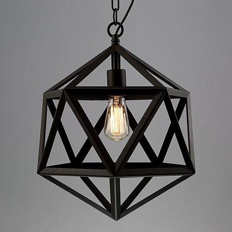 Chandelier Cage Métal Style Light Réglable Suspension Lustre En Lampe Industriel Vintage XZuOPkTiw