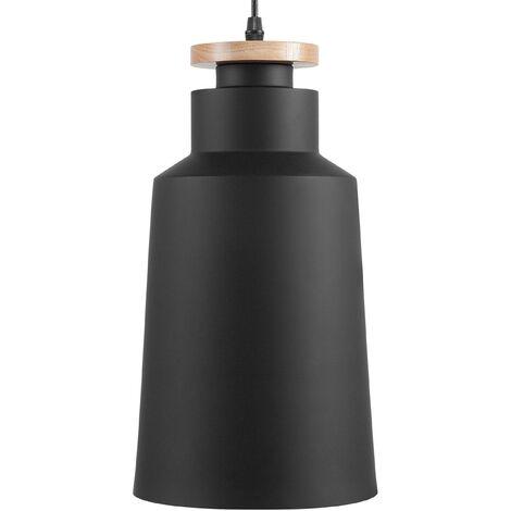 Lampe suspension moderne noire