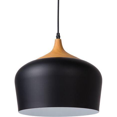 Lampe suspension noire au style rustique