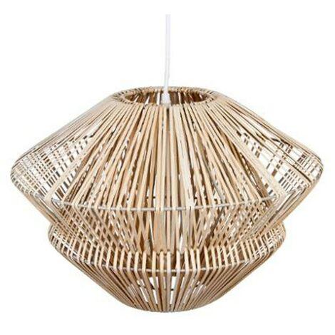 Lampe Suspension Rotin 45cm Beige