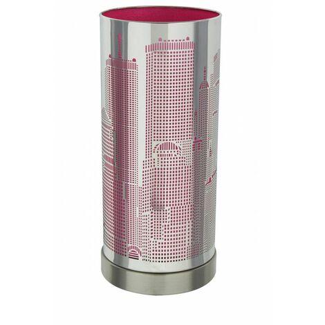 Lampe tactile à 3 intensités - Rose - City - Système touch allumage au toucher