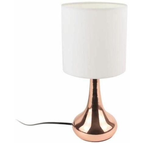 Lampe Tactile - Cuivre et Blanc