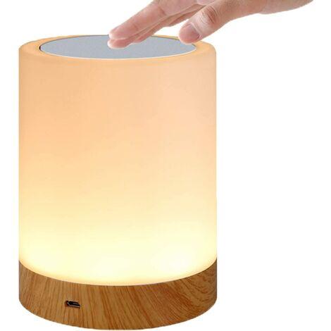 Lampe tactile LED pour chambre à coucher, salon, bureau - Lampe de chevet avec capteur RVB changeant de couleur - Port de charge USB