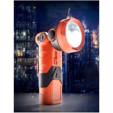Lampe-torche de sécurité LED - avec accumulateur lithium-ion - norme ATEX, IP67 - Coloris: orange-noir