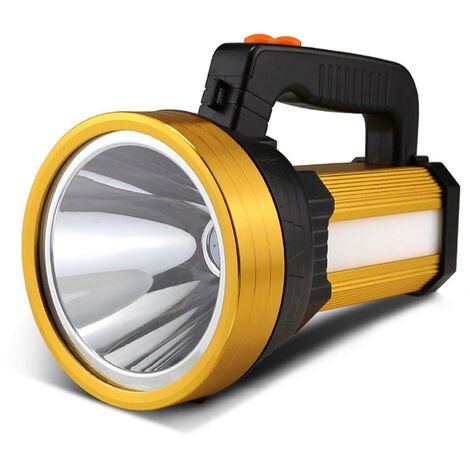 "main image of ""Lampe Torche LED Rechargeable Étanche IPX4 Lampe Camping Portable 10000mAH Lampe Camping Projecteur Portable (Golden"""