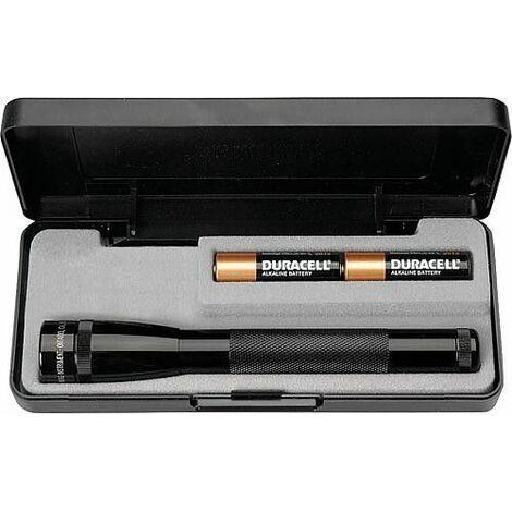 Lampe torche MagLite Mini Mag *KB* LED noir, dans emballage cadeau 17cm, batteries incluses