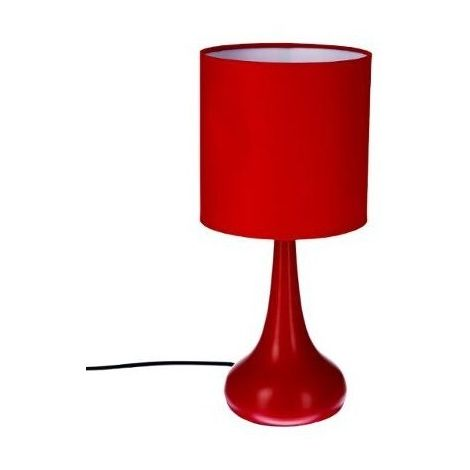 Lampe touch - H 35 cm - Rouge