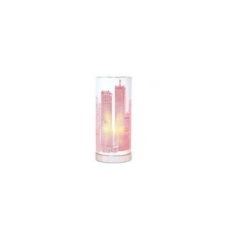 Lampe touch New York rose cylindrique