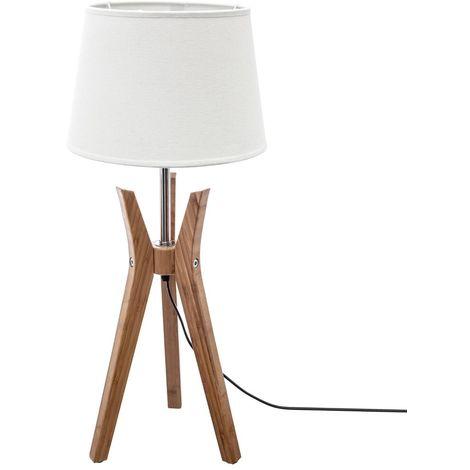 Lampe trépied & abat-jour lin Kalo - E27 - 65 cm