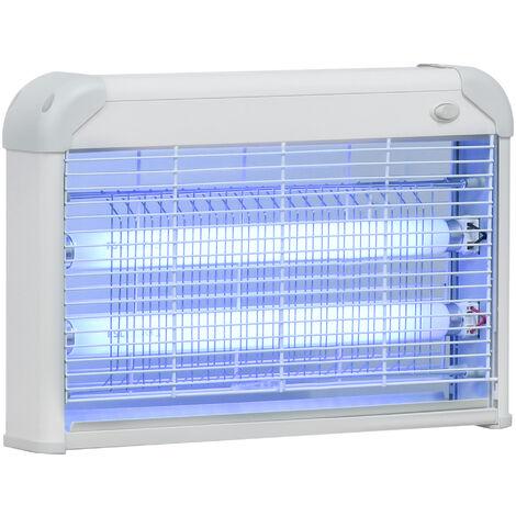 Lampe UV anti-insectes anti moustique tue mouche électrique destructeur d'insectes 20 W gris