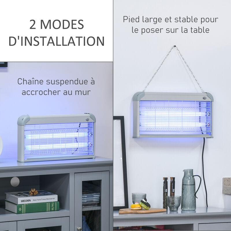30 Électrique Destructeur Lampe D'insectes Anti Mouche W Gris Insectes Moustique Tue Uv eWEH29IYD