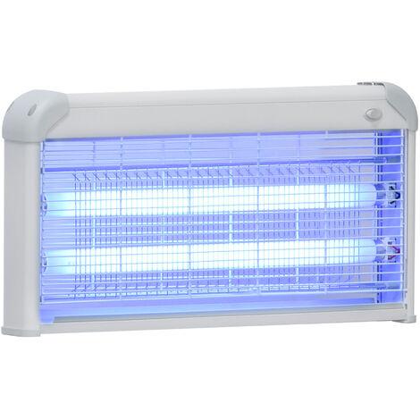 Lampe UV anti-insectes anti moustique tue mouche électrique destructeur d'insectes 30 W gris