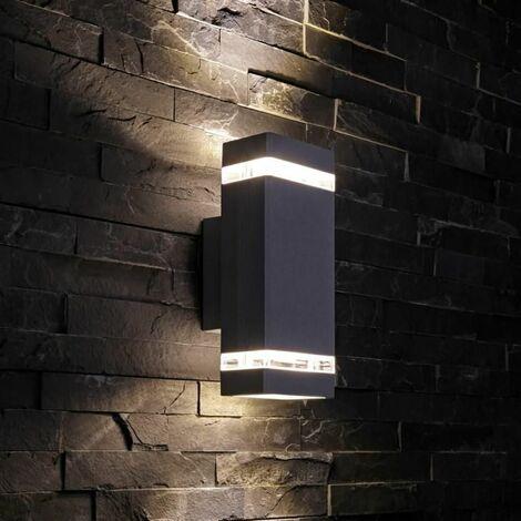 """main image of """"Lampe vers Haut/Bas Extérieur Moderne Carrée Noir IP44 A++ Jardin Porte d'Entrée"""""""