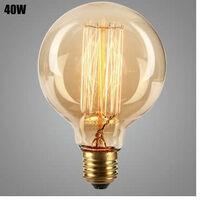 Lampe Vintage Glühbirne Edison E27 G95 40W Glühbirne 1