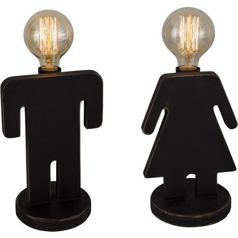 De Homme Femmelot Chevet 2Seb16375 Lampes Yfvbgy76