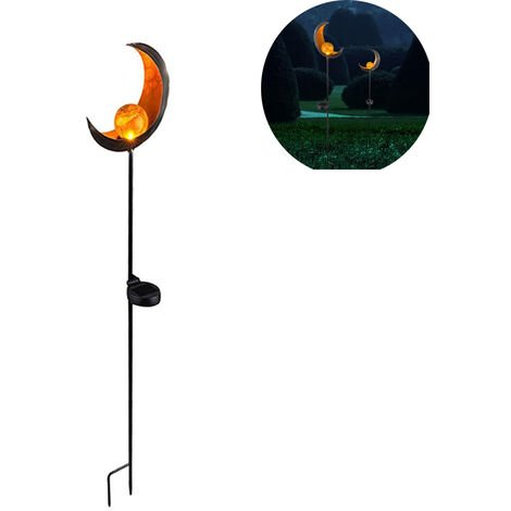 Lampes solaires LED éclairage extérieur Décoration Lampes enfichables Moon Design