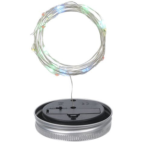 Lampes Solaires Pour Lanternes, 10 Led, 1 M, Multicolores