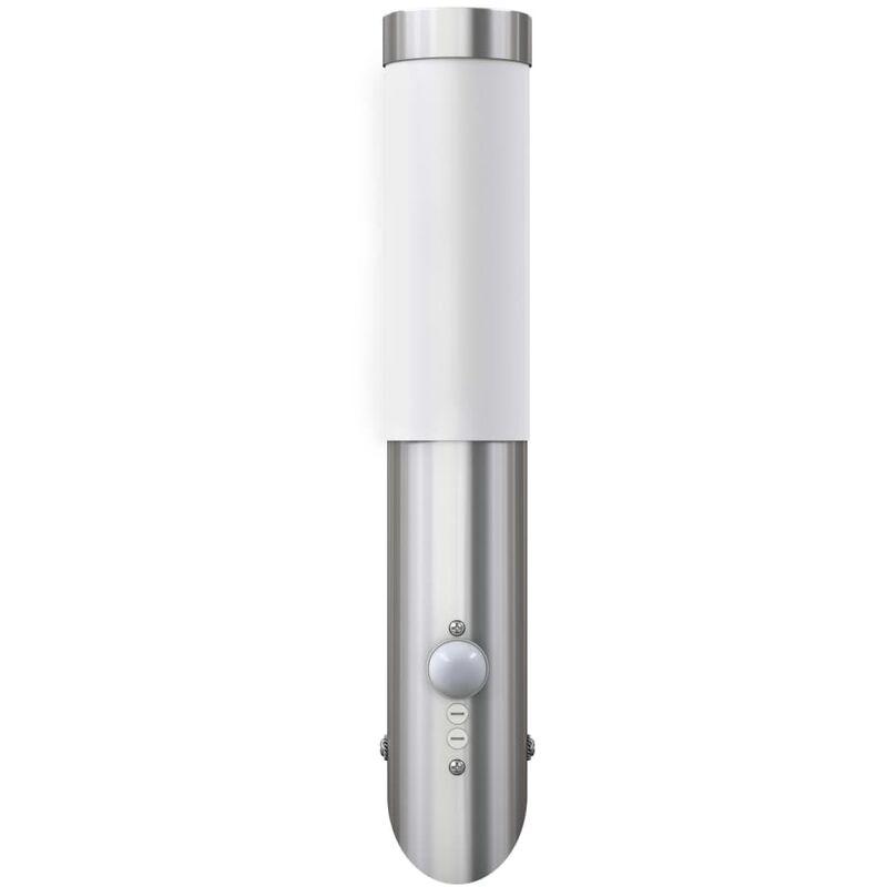 Lampioncino moderno in acciaio inox, sensore di movimento - VIDAXL