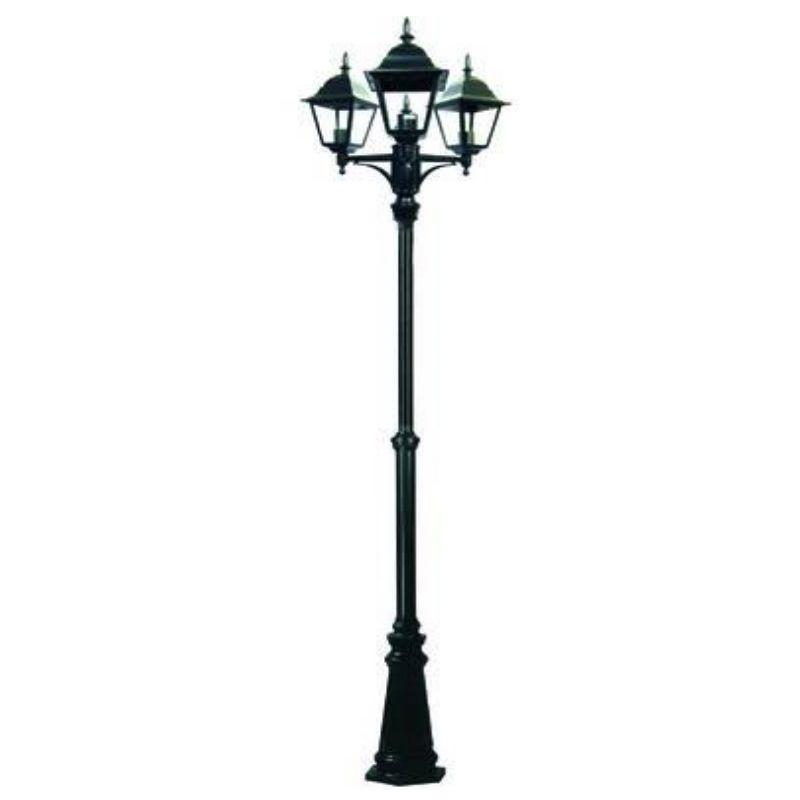 Lampione da esterno 'New York' 3 luci su palo