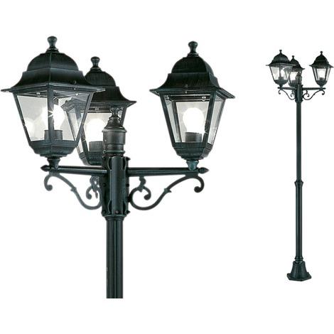 Lampione da giardino charme 3 luci papillon cm 203h for Luci da giardino