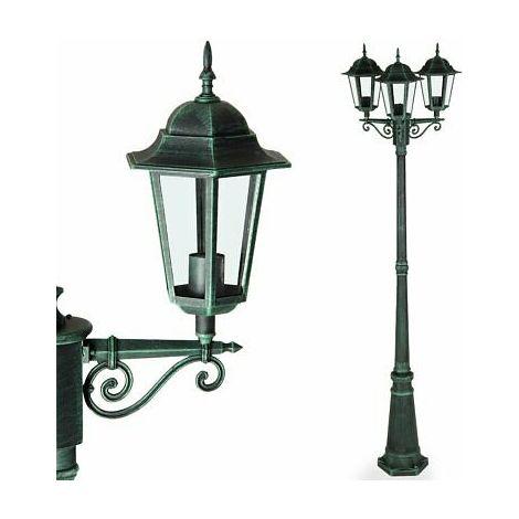 Lanterna Lampada da Esterno in Alluminio e vetro Luce da Giardino Applique Verde