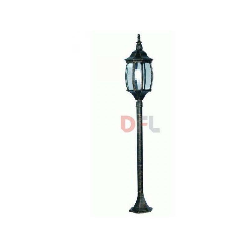 Lampione lampioncino a 1 lanterna finitura oro antichizzatato cm 18x17h - DFL