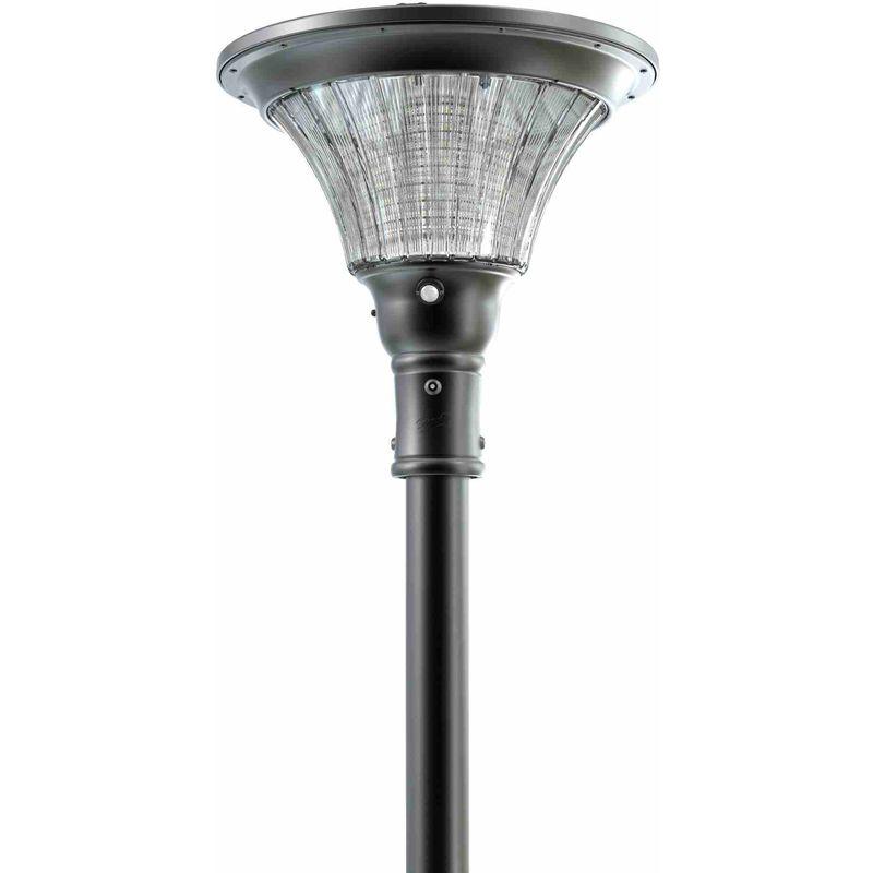Lampione Led ad Energia Solare per Esterno SFERA NERA - ECOWORLD SHOP