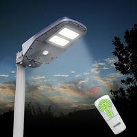 Lampione per Esterno con Pannello Fotovoltaico Inclinabile e Telecomando