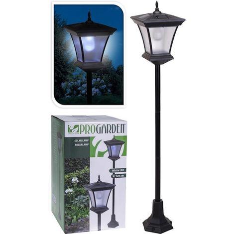 Lampione solare 21x21x120cm lampada arredo giardino for Lampada arredo