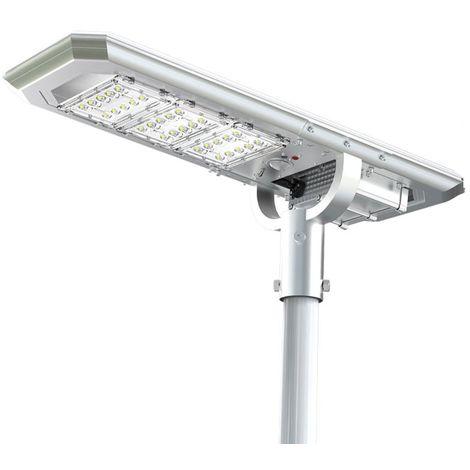 Lampione Solare Pannello Fotovoltaico Integrato 3000 Lumen