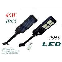 Lampione stradale led 60w pannello solare luce esterno ip65 telecomando 9960