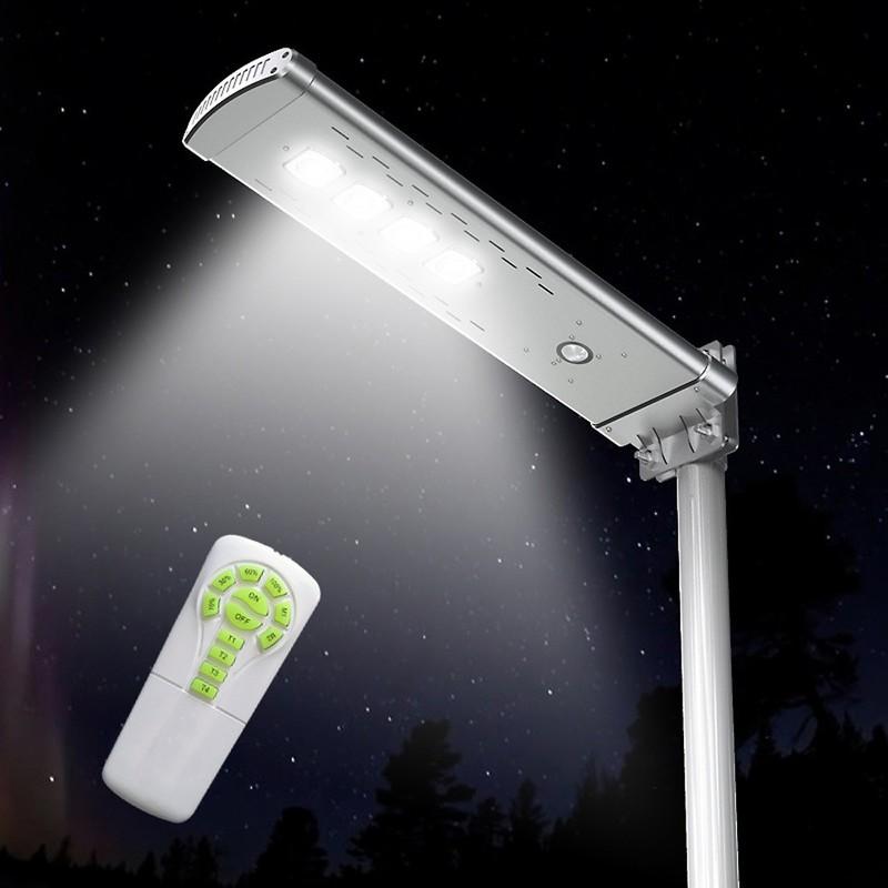 Lampione Stradale Solare Led 3000 Lumen con Telecomando Smart Optium - SUPERNOVA